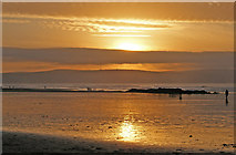 SW5741 : Sea and sunset sky, Gwithian beach by Andy F