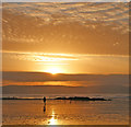 SW5741 : A sunset sky over Gwithian beach by Andy F
