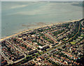 TQ8585 : Aerial view of Southend seafront: Westcliff paddling pool towards Chalkwell station by Edward Clack