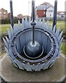 NZ4250 : 'Wind and Fire' sundial, East Shore, Seaham by Andrew Curtis