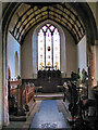 TL9785 : The church of All Saints - the chancel by Evelyn Simak