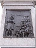 SJ3787 : Sefton Park - NW plaque on Rathbone statue by John S Turner