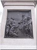 SJ3787 : Sefton Park - SE plaque on the Rathbone statue by John S Turner