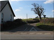 SS5726 : Road junction at Chapelton by Sarah Charlesworth