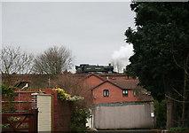 SO7975 : Steam locomotive departing Bewdley station by Peter Langsdale