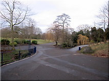 SJ3787 : Sefton Park - crossroads near the Palm House by John S Turner