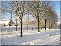 SU6353 : Snowscene near the Vyne school by Given Up