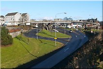 NS3980 : Footbridge over Bank Street by Lairich Rig