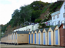 SZ5881 : Beach Huts, Shanklin, Isle of Wight by Christine Matthews