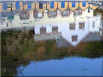 SZ5881 : Shanklin Beach Reflections by Christine Matthews