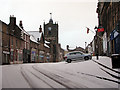 NU1813 : Alnwick: early-morning snow by John Sutton