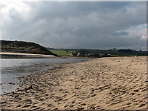 NU2410 : Alnmouth: the mouth of the Aln by John Sutton