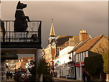 SY9287 : Wareham: Black Bear and Town Hall by Chris Downer