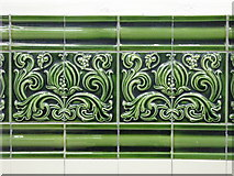 TQ2785 : Belsize Park tube station - wall tiles in the ticket hall by Mike Quinn