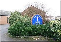TQ3377 : St George's Church, Coleman Road, London SE5 - Notice board by John Salmon