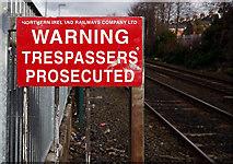 J3272 : Warning sign, Adelaide halt by Rossographer