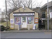 SE1527 : Wyke News - Huddersfield Road by Betty Longbottom