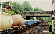 J2664 : Goods train. Lisburn by Albert Bridge