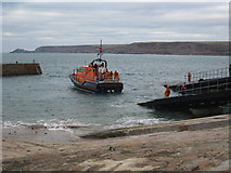SW3526 : Returning the lifeboat to the lifeboat house by Rod Allday