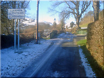 SO2354 : Gladestry village sign by Trevor Rickard
