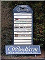 TM1458 : Wood Farm Business Centre Notice Board, Crowfield by Adrian Cable