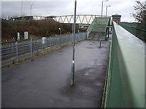 SU4212 : Footbridge over the railway at Northam by Stanley Howe
