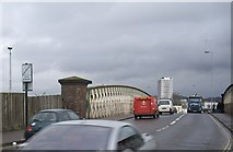 SU4212 : Northam Road - A3024 bridge over the railway by Stanley Howe