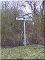 TM1457 : Roadsign on Crowfield Road by Adrian Cable