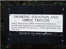 TM2130 : Information Plaque by Keith Evans