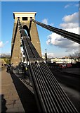 ST5673 : Chains of the Clifton Suspension Bridge by Peter Thwaite