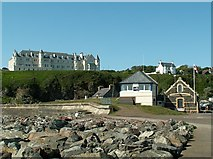 NW9954 : View inland from the edge of Portpatrick Harbour by Rose and Trev Clough