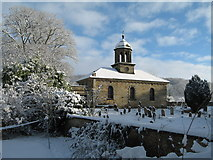 SE5971 : All Saints Church, Brandsby, in the snow by Les Shaw