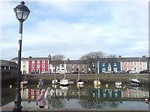 SN4562 : Pretty painted harbourside properties by Deborah Tilley