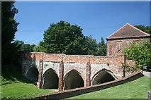 TL7835 : Bridge to the Keep Hedingham Castle by Jo Turner