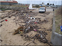 NZ3668 : Debris Washed Ashore on Small Beach, South Shields by Les Hull
