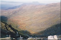 SH5956 : Cwm Brwynog from the col by Eric Jones