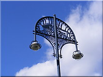 TQ4383 : Ornate Street Light, Barking Town Quay by Adrian Cable