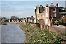 TF4509 : North Brink, Wisbech, on the bank of the River Nene by Rob Noble