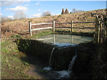 TQ5334 : Water Pool on Forge Road by Oast House Archive