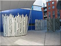 TQ3279 : Empire Square: gates by Stephen Craven