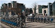 O1634 : Bikes for Hire on the Custom House Quay by Eric Jones