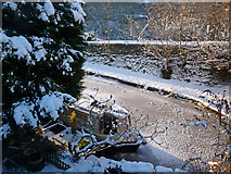 SD9926 : Mooring at Mayroyd, Hebden Bridge by Phil Champion