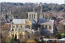 SU4829 : Winchester Cathedral From St.Giles's Hill by Peter Trimming