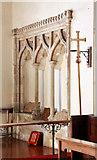 TR1148 : St Bartholomew, Waltham, Kent - Sedilia by John Salmon