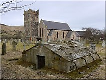 NT9130 : Churchyard, Church of St Gregory, Kirknewton by Andrew Curtis