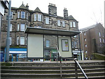 NT2774 : Bus stop from Regent Place, Abbeyhill by kim traynor