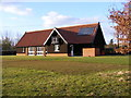 TM3365 : Bruisyard Village Hall by Adrian Cable
