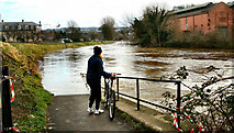 ST7464 : Flooded Cycle path by ROGER ROBERTS