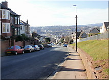 ST3288 : Looking down Christchurch Road, Newport by Jaggery
