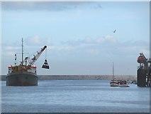 NZ3668 : Dredger on the Tyne by Christine Johnstone